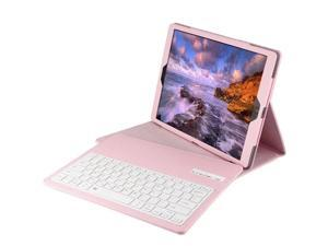 """Ultra Slim Removable Plastic Bluetooth Keyboard Magnetic Wireless Detachable Synthetic Leather PU Lichee Pattern Folio Case Cover Shell Stand for iPad Pro12.9"""" Pink"""