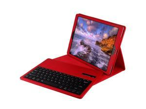 """Ultra Slim Removable Plastic Bluetooth Keyboard Magnetic Wireless Detachable Synthetic Leather PU Lichee Pattern Folio Case Cover Shell Stand for iPad Pro12.9"""" Red"""