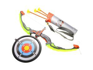 Light Up Bow and Arrow Play Set for Kids, Comes with Quiver, Arrows, and Target - Yellow