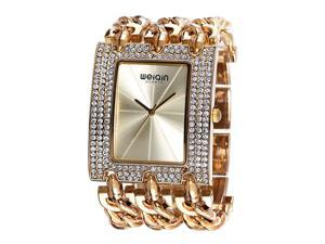 62c19e0ac26 louiwill WEIQIN Luxury Brand Crystal Gold Bracelet Watches Women Ladies  Fashion Casual Dress ...