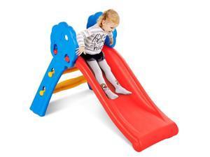 Children Kids Junior Folding Climber Play Slide Indoor Outdoor Toy Easy Store