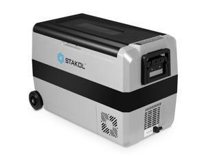 STAKOL 53 Quarts Portable Electric Car Cooler Refrigerator/Freezer Wheels Camping