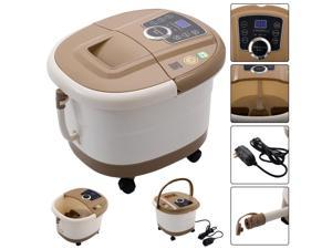 Costway Portable Foot Spa Bath Massager Bubble Heat LED Display Infrared Relax