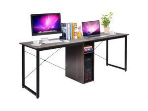 2 Person Computer Desk 79''Large Double Workstation Dual Office Desk w/Storage