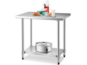 24''x36''Stainless Food Prep Work Table Commercial Kitchen Worktable