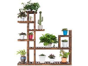 7-Tier Flower Wood Stand Plant Display Rack Multifunctional Storage Shelf