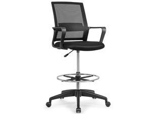Costway Drafting Chair Tall Office Chair Adjustable Height w/Footrest