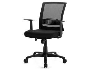 Costway Mesh Office Chair Mid Back Task Chair Height Adjustable w/Lumbar Support