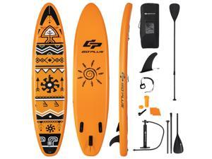 Goplus 11' Inflatable Stand Up Paddle Board SUP Surfboard W/Pump Aluminum Paddle