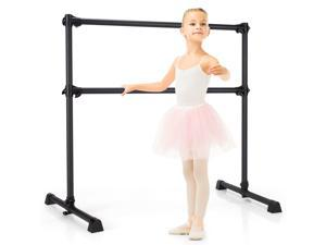 Goplus 4FT Portable Double Freestanding Ballet Barre Dancing Stretching Black