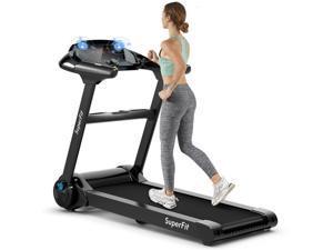 2.25HP Folding Treadmill Running Machine W/LED Touch Display Bluetooth Speaker