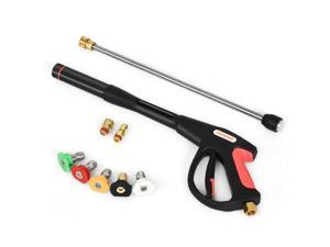 """Pressure Washer Gun 4000 PSI W/20"""" Extendable Wand 5 Nozzle Tips"""