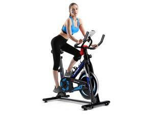 Indoor Cycling Bike Exercise Cycle Trainer Fitness Cardio Workout LCD Display