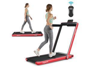 2.25HP 2 in 1 Dual Display Folding Jogging Machine Treadmill W/Bluetooth Speaker