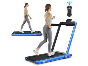 2.25HP 2 in 1 Folding Treadmill Jogging Machine Dual Display W/Bluetooth Speaker