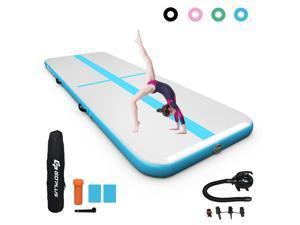 13FT Air Track Inflatable Gymnastics Tumbling Mat w/ Pump Indoor Outdoor Navy