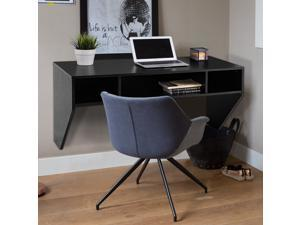 Wall Mounted Floating Computer Table Sturdy Desk Home Office Furni Storag Shelf