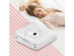 Electric Heated Mattress Pad Safe Twin/Full/Queen/King 8 Temperature 10h Timer