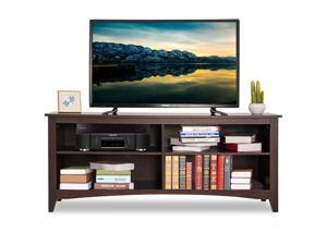 "58"" TV Stand Entertainment Media Center Console Wood Storage Furniture Espresso"