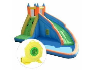 Inflatable Water Slide Mighty Bounce House Jumper Castle Moonwalk W/ 735W Blower