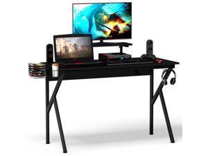 "52""×23.5""×35.8"" Gaming Desk Computer Desk PC Table Workstation with Cup Holder & Headphone Hook"