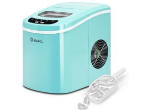 Green Portable Compact Electric Ice Maker Machine Mini Cube 26lb/Day Mint