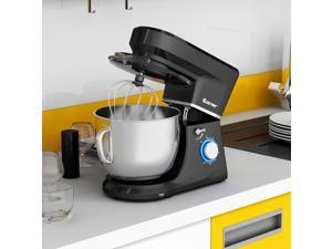 Tilt-Head Stand Mixer 7.5 Qt 6 Speed 660W with Dough Hook, Whisk & Beater Black