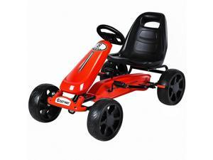 Go Kart Kids Ride On Car Pedal Powered Car 4 Wheel Racer Stealth Toy Outdoor Red