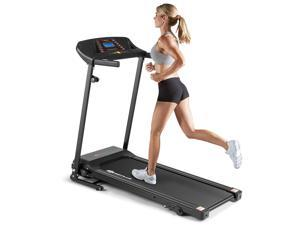 1.0HP Folding Treadmill Electric Support Motorized Power Running Machine Trainer