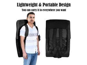 Stadium Seat Bleachers Portable Chair Reclining w/Backs and Padded Cushion Black