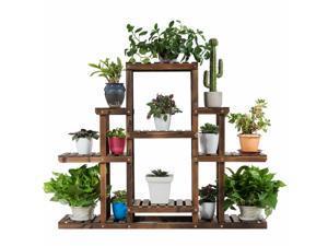 6-Tier Flower Wood Stand Plant Display Rack Multifunctional Storage Shelf