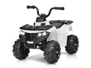 6V Battery Powered Kids Ride On ATV 4-Wheeler Quad w/ MP3 & LED Headlight Blue