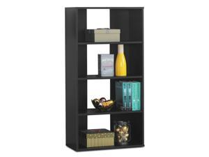 4-Tier Bookcase Storage Open Shelves Multipurpose Display Unit for Home Office