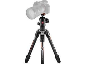 manfrotto befree gt travel carbon fiber tripod with 496 ball head for sony alpha cameras, twist locks, black