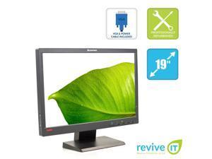 """Lenovo ThinkVision L1951pwD 19"""" Widescreen 1440x900 16:10 LCD Monitor VGA DVI - Grade A"""