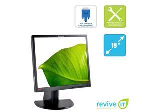 "Lenovo ThinkVision L1900PA 19"" 1280x1024 LCD Monitor VGA DVI Adjustable Stand Grade B"