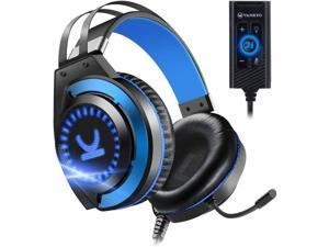 VANKYO Gaming Headset CM7000 with Authentic 7.1 Surround Sound Stereo PS4 Headset, Gaming Headphones with Noise Canceling Mic & Memory Foam Ear Pads for PC, PS4, PS5, Xbox One, Nintendo Switch, Blue