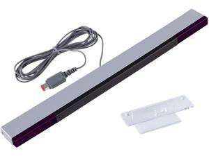 Aokin Wired Infrared Ray Sensor Bar for Nintendo Wii and Wii U Console, Replacement IR Ray Motion Sensor Bar, Includes Clear Stand