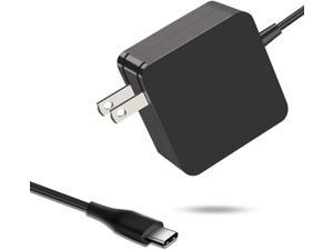 Huanxilu 65W USB C Charger,PD Wall Power Adapter Compatible for MacBook Pro, Dell XPS, Chromebook, Lenovo, Huawei Matebook, HP Spectre, Acer and Any Laptops or Smart Phones with USB C