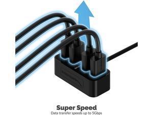 Sabrent 4-Port USB-C to USB 3.0 Mini Portable Hub,[1-Foot Cable] The World's Smallest USB 3.0 Hub (HB-MNCB)