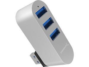 Sabrent Premium 3-Port Aluminum Mini USB 3.0 Hub [90°/180° Degree Rotatable] (HB-R3MC)