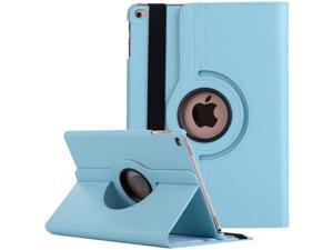 360 Degree Smart Rotating Leather Hybrid Case for iPad 10.2 inch (8th & 7th Gen) - Baby Blue