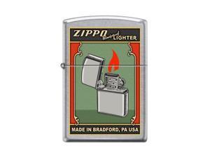 Zippo Green Poster Street Chrome Windproof Pocket Lighter