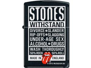 Zippo Rolling Stones Withstand 218 Black Matte Windproof Pocket Lighter 218CI012057