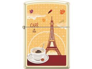 Zippo Cream Matte Café De Paris Coffee Cup Windproof Pocket Lighter 216CI018418