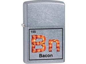 Zippo Bacon, Street Chrome, Color Image Windproof Pocket Lighter 29070
