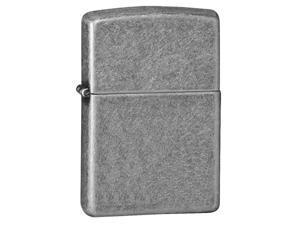 Zippo Armor Antique Silver Plate Windproof Pocket Lighter 28973