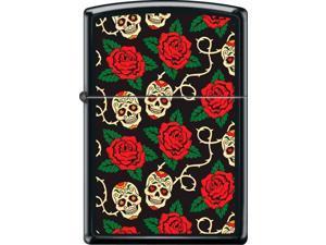 Zippo Black Matte Sugar Skulls Windproof Pocket Lighter 218CI018415