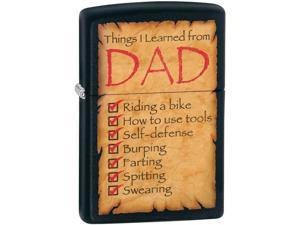 Zippo DAD Things Learned 28372 Windproof Pocket Lighter 218CI009289