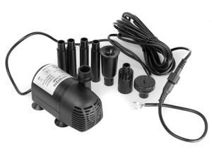 AEO 12V - 24V DC Brushless Submersible Water Pump, 410GPH, for Solar Fountain, Fish Pond, and Aquarium (1 Pack)